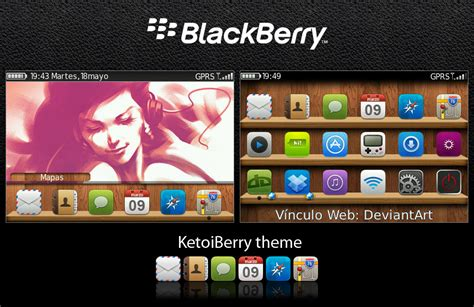blackberry themes iphone free ketoiberry iphone like theme with wood dock