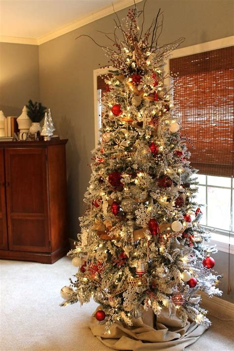 christmas decoration home 25 unique flocked christmas trees ideas on pinterest