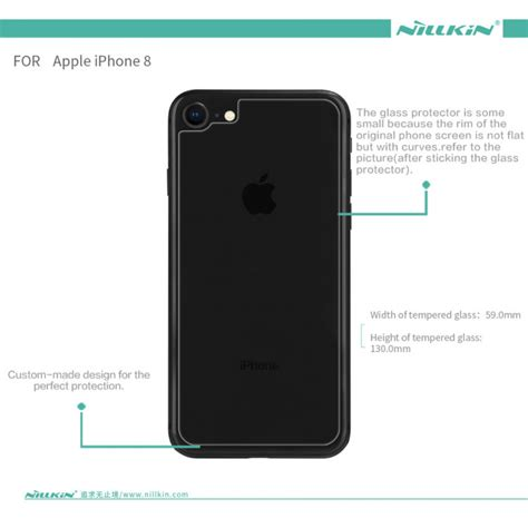 nillkin back cover glass protector for apple iphone 8 iphone 8 plus index h us 11 5