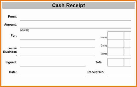 Blank Receipt Form Template by 8 Blank Receipt Expense Report