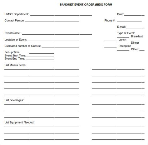 event form template 13 event order templates free sle exle format