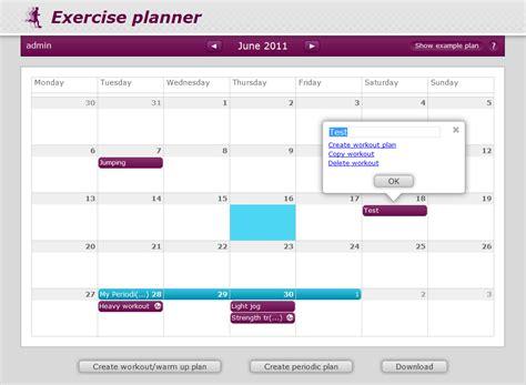 Gym Planner exercise planner drupal org
