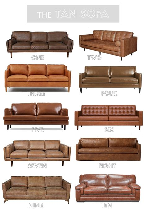 tan leather sectional couch tan leather sofa round up kassandra dekoning