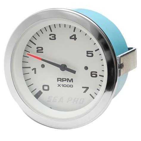 boat rpm gauge teleflex sea pro 65390f inboard outboard boat tachometer