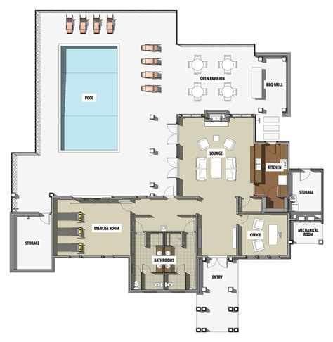 club floor plans club house plans escortsea