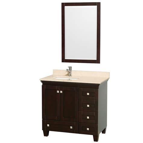 Acclaim 36 Quot Espresso Bathroom Vanity Set White Carrera Or Bathroom Vanity Espresso