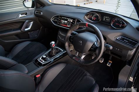 peugeot 308 gti interior 2016 peugeot 308 gti 250 review video performancedrive