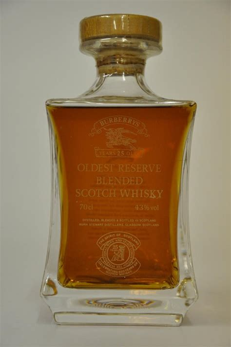 burberrys 25 year old oldest reserve blended scotch whisky decanter whisky online auction