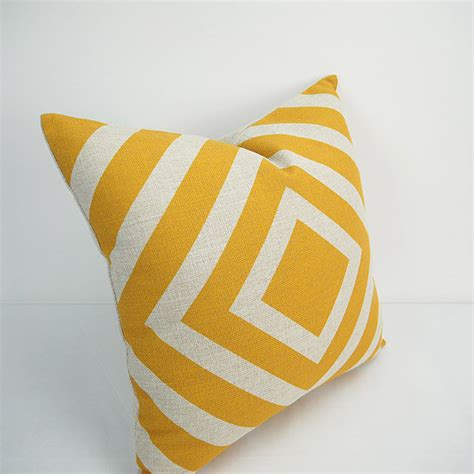 Geometric Pillow Covers by Yellow Decorative Throw Geometric Pillow Pillows Pillow