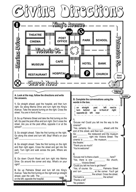 get printable directions giving directions worksheet