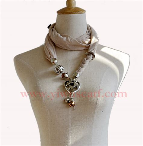 scarves with jewelry attached china scarf