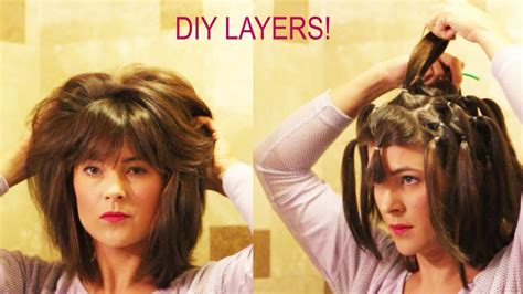 diy hairstyles for medium layered hair how to cut your own layers diy 90 degree haircut method