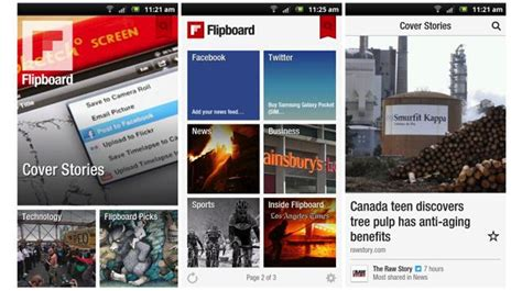 flipboard android flipboard for android leaked ubergizmo