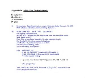 sample subjective objective assessment planning note 7