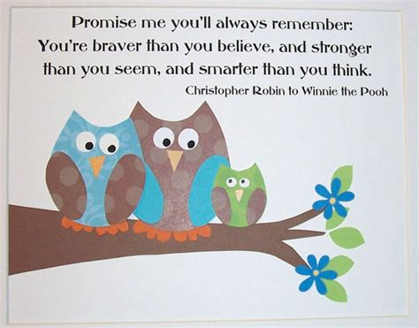 Winnie The Pooh Birthday Quotes Owl Items Similar To Kids Wall Art Childrens Wall Art Decor