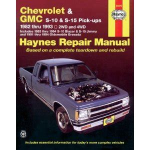 online car repair manuals free 1997 gmc jimmy electronic throttle control 1983 1994 chevy s10 s15 blazer pickup jimmy bravada haynes manual