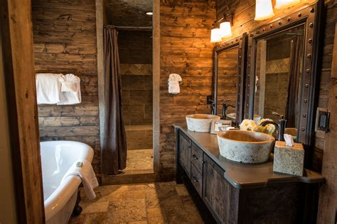 lodge bathroom rustic cabin interiors fancy interior design ideas using