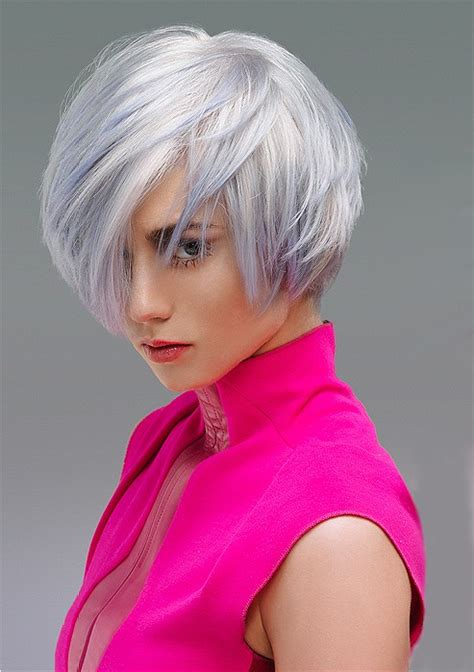 A Short White hairstyle From the Autumn/Winter 2014 Colour in Motion Collection Collection by