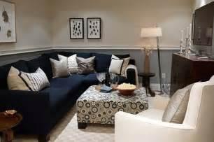 Sofa Kleines Wohnzimmer Grey Living Room Decorating Ideas With Blue Sofa