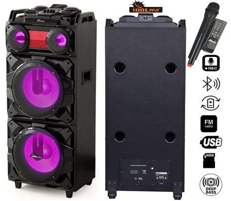 Speaker Power Up Bluetooth idolpro ips dj02 portable wireless pa high power karaoke entertainment system w bluetooth