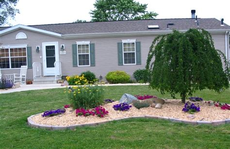 landscaping ideas for mobile homes mobile manufactured