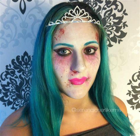 cartoon zombie princess halloween makeup tutorial