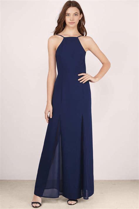 Maxi Navy navy maxi dress blue dress chiffon dress 18 00