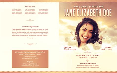 funeral flyer template best photos of free templates funeral program designs