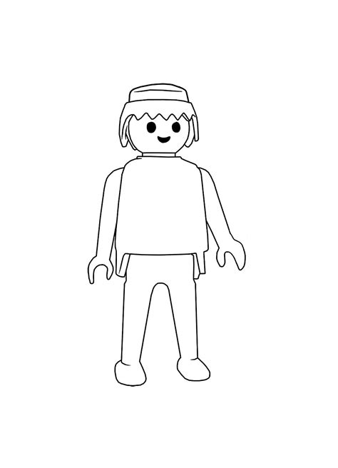 Playmobil Personnage Simple Coloriage Playmobil