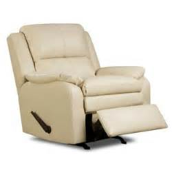 simmons upholstery baron leather rocker recliner shop