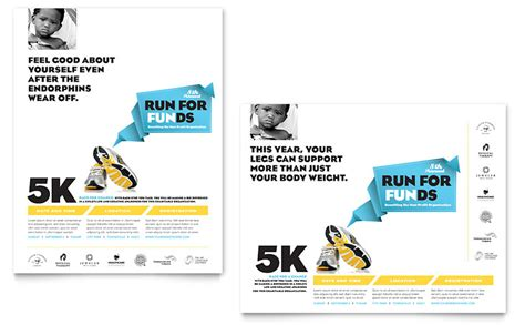 Charity Run Poster Template   Word & Publisher
