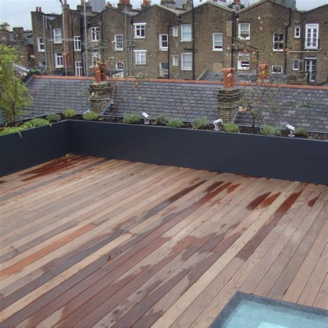 Roof Top Planters by Rooftop Trough Planters Outdoor Design