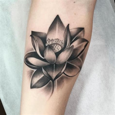 black and grey tattoo la flower tattoo black and grey tattoo of flower lotus