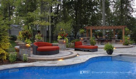 pool patio lighting modern patio toronto