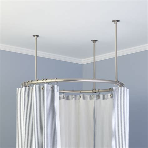 32 Quot Round Shower Curtain Rod Ceiling Shower Curtain Rod
