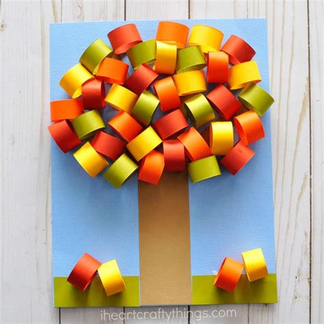 Autumn Paper Crafts - beautiful fall tree paper craft i crafty things