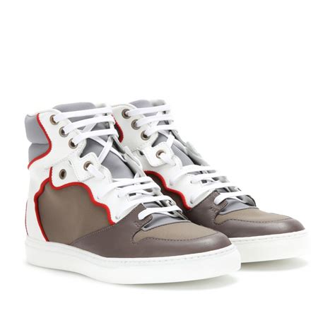 balenciaga s sneakers balenciaga hightop sneakers in white lyst