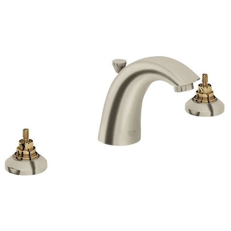Bathroom Faucets Nickel Finish Grohe Arden 8 In Widespread 2 Handle Bathroom Faucet In
