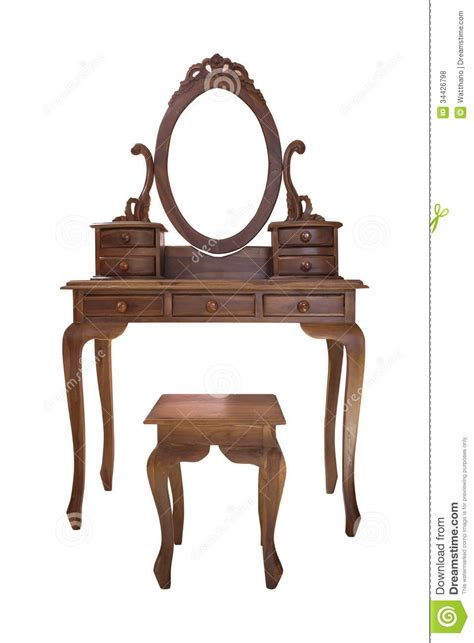 Vanity Table And Chair by Wood Vanity Table And Chair Royalty Free Stock Photos