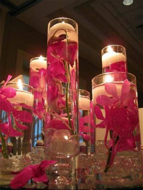 Cylinder Vases With Floating Candles And Flowers by Diy Place Water Your Favorite Flowers Inside Clear