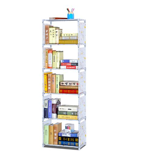 Plastic Book Shelf by 6 Layer Collapsible Cosmetic Folding Plastic Book Shelf