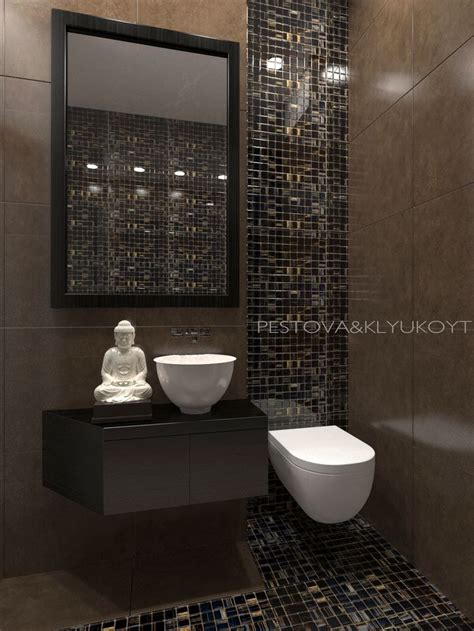 buddha bathroom toilet visualization interiordesign beige brown