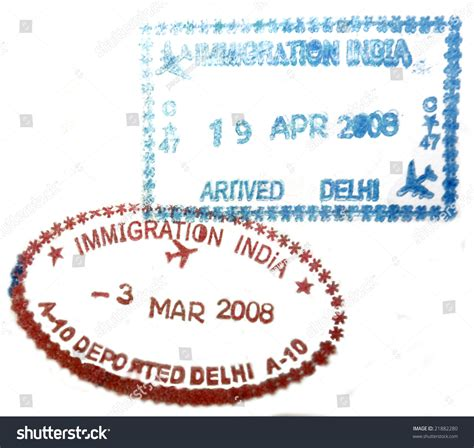 Search From India Visa Passport St From India Stock Photo 21882280