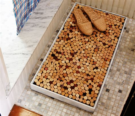 Showers Cork by Diy Make Your Own Shower Mat Out Of Recycled Wine Corks