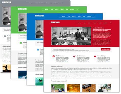 Brevis Premium Sharepoint 2013 Theme Best Sharepoint Design Exles Sharepoint Templates Free