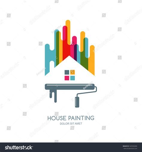 Home Design Vector Vector Logo Label Emblem Design House Stock Vector