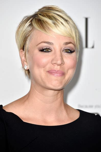 kaley cuoco sweeting pixie short hairstyles lookbook