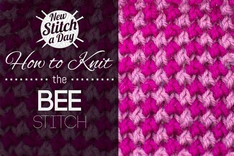 how to knit with one color how to knit the 2 color bee stitch