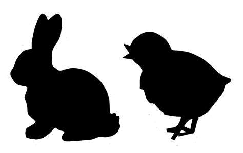 silhouette templates rabbit silhouette clipart best