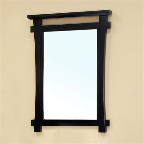 Bellaterra Home 203012 Mirror Frame Bathroom Mirror Black Frame A Bathroom Mirror